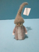 2015 100% handmade pure wool felt christmas home decor little angel with long hat