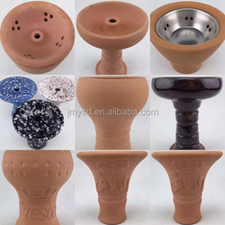 New design hookah ceramic bowl with metal