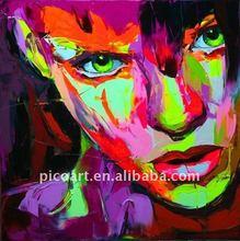 Retrato de acrílico arte pintura moderna del arte pop