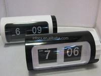 Hot sale auto flip calendar alarm clock/mini flip clock