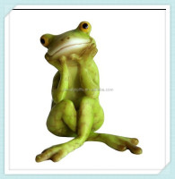 Customized Resin Yoga Frog For Decor
