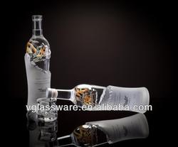 750ML FROSTED CRYSTAL GLASS BOTTLE