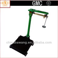 Brass Ruler kg & lb Unit Round Pillar Mechanical Platform Weighing Balance with Wheels for 200kg 300kg 500kg 1000kg TGT-R