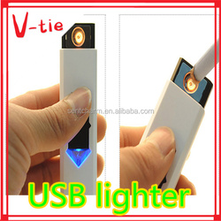 2015 Creative office corporate business gift sets Rechargeable USB Lighter