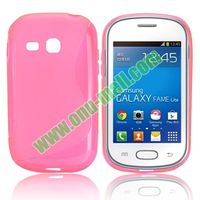 S-Shape TPU cover case for samsung galaxy fame lite s6790