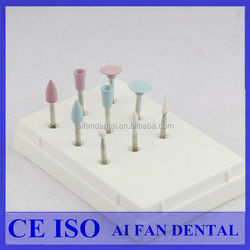 [ AiFan Dental ] High Gloss Silicone dental polishing kit for Porcelain and Composite Materials RA0309