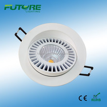 12W Round dimmable COB downlights the luxury ceiling fixtures