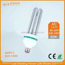 100% real ce rohs certification 3W/5W/7W/9W/12W/16W/23W U shape SMD2835 LED corn light from Zhongshan lighting factory