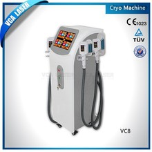 cryo slimming machine,4 treatment heads for different size, automatic fault detection technology