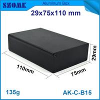high quality oem black aluminum extruded pcb case