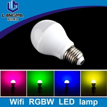 Energy Saving 16 Color Changing RGB LED Light Bulb Lamp e26 E27 Remote Control 6w smart led bulb