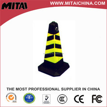 Square Rubber Road Solar Traffic Cone Light