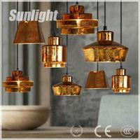 Replica New Design restaurant Modern Antique industrial Golden metal Pendant Lighting/lamp conduit droplight