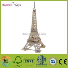 Wholesale 3D DIY Puzzle Wooden Eiffel Tower Model