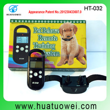 New products 2015 latest Remote Control Dog Training Collar Shock Electronic Pet Training Collar with No Bark Function