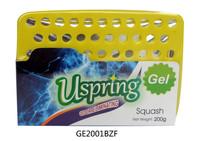 Lemon scented car seat gel air freshener and deodorant