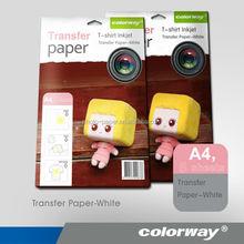 New design inkjet heat transfer photo paper A3 size white/dark for cotton t-shirt