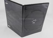 PP 7mm Long Single Black dvd case with smooth sleeve