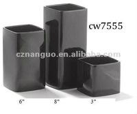 ceramic square flower pots and indoor black vases