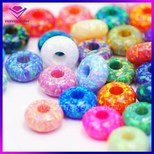 Synthetic Opal European Bead & Jewelry Loose Rondelle in 78 colors