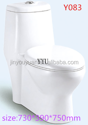 Y0832015 new product sanitary ware washdown one piece toilet hot sale hot sale washdown home toilet, floor trap