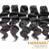 Top quality Body Wave Unprocessed Virgin Natural Black Russian Virgin Hair