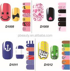 China wholesale DIY sticker nail vinyl wraps, self-adhesive nail vinyl wraps, 100% nontoxic nail vinyl wraps