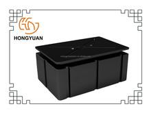 Plastic black floating pontoon for dock rotomolded plastic pontoon