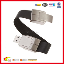 2015 wholesale deluxe black leather wristband bracelet USB 2.0 flash memory drive