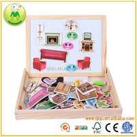 Hot Selling Magnetic Children's Drawing Board Wooden Puzzle Box QQTH-106