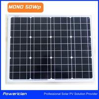 Mono 50Wp Solar Panel Mini Panel LED Panel from Powerician