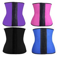 Women Latex Rubber Corset Underbust Waist Training Cincher Body Shapewear Vest Strap Corset Bustiers Shapewear
