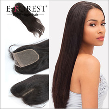 7A Cheap Brazilian Hair Silky Straight Free/Middle/3 Part 4x4 Silk Base Closures With Baby Hair Silk Top Closures