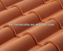 terracotta roof tiles(french roof tile, romanee red clay roof tile,lusterless roof tiles)
