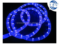 CE RoHS waterproof IP68 round 2 wire blue color 30leds/m 50m led rope light