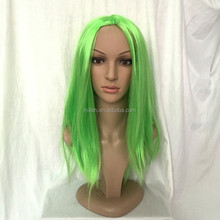 MPW-0397 carnival party girl cheap middle long green wigs
