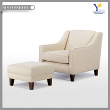 Hot sale single lounge chair with foot