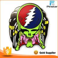 corlorful grateful dead skull custom metal hat pin badge