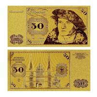 Germany Golden Banknote 50 Mark Banknotes 24KT 99.9% Gold Without COA Frame For Gift