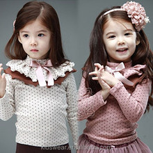 Tx-1360 wholesale fashion children winter child clothes kids clothing girls Korean latest hot sexy Baby high-collar bottom shirt