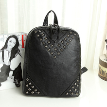 China supplier hobo satchel bags women water-washed soft leather backpack fashion 2015