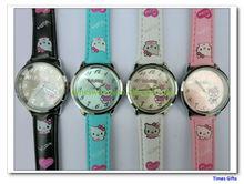Mixed Colors Hello Kitty Fashion wrist watch children watch leather wrist watch