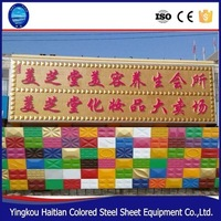 China POP New Environmentally Friendly Colorful Steel Decorative 3d Wall Panel Moulding