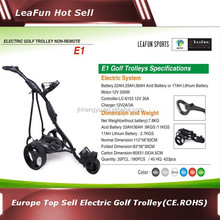 Europe Top Sell Electric Golf Trolleys With Digital Handle , Distance (10m,20m,30m),Cheap Price .2 years warranty