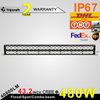 "Wholesale 480w dual row 43"" led driving light bar with high bright and strong quality competitive price led work light bar"