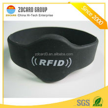 Silicone hot sale HF/lF/UHF chip available rfid identification wristband