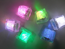Changing Color Ice Cube with LED Lights