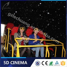 Strong Impact Hydraulic/Electronic 5D Moving Seat Theater Simulator