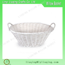 white wicker baskets with side handles wicker holiday gift basket wicker knit handmade basket