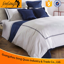 Cotton/poly 400TC king size hilton hotel bedding,5 star hotel Hilton linen supplier in guangzhou
